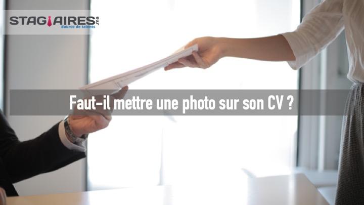 Photo sur cv