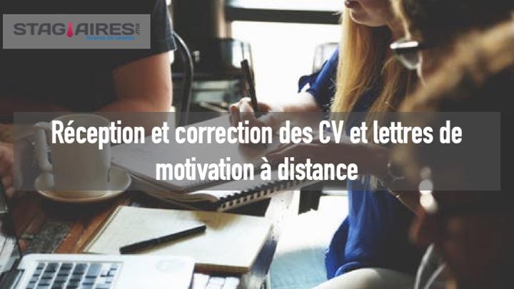 Réception et correction des CV